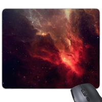 Beautiful Fantastic Shining Red Nebula In Dark Universe Illustration Pattern Rectangle Non-Slip Rubber Mousepad Game Mouse Pad Gift
