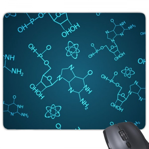 Blue Chemical Molecular Structure Illustration Rectangle Non-Slip Rubber Mousepad Game Mouse Pad Gift