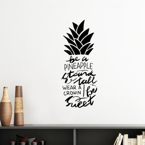 Be a Pineapple Stand Tall Sweet Quote Silhouette  Removable Wall Sticker Art Decals Mural DIY Wallpaper for Room Decal