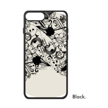 Flower Plants Black White Art Grain Silhouette For iPhone 8/8 Plus Cases Phonecase Apple Cover Case Gift