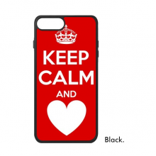 Quote Keep Calm And Love Red For iPhone 8/8 Plus Cases Phonecase Apple Cover Case Gift
