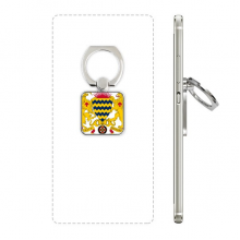 Chad National Emblem Country Square Cell Phone Ring Stand Holder Bracket Universal Support Gift