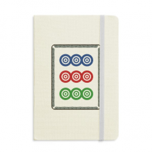 Mahjong Circle Dots 9 Tile Pattern Classic Notebooks Fabric Hard Cover Office Work Gift