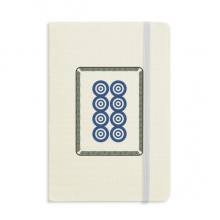 Mahjong Circle Dots 8 Tile Pattern Classic Notebooks Fabric Hard Cover Office Work Gift