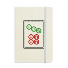 Mahjong Circle Dots 7 Tile Pattern Classic Notebooks Fabric Hard Cover Office Work Gift