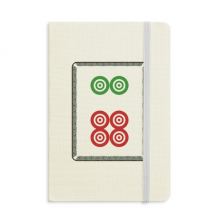 Mahjong Circle Dots 6 Tile Pattern Classic Notebooks Fabric Hard Cover Office Work Gift
