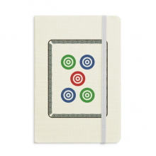 Mahjong Circle Dots 5 Tile Pattern Classic Notebooks Fabric Hard Cover Office Work Gift