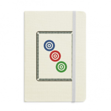 Mahjong Circle Dots 3 Tile Pattern Classic Notebooks Fabric Hard Cover Office Work Gift
