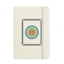 Mahjong Circle Dots 1 Tile Pattern Classic Notebooks Fabric Hard Cover Office Work Gift